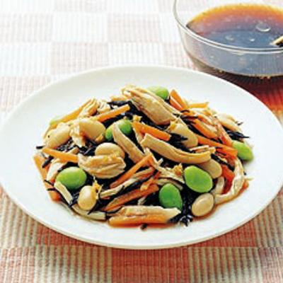 ささみと豆の和風サラダ