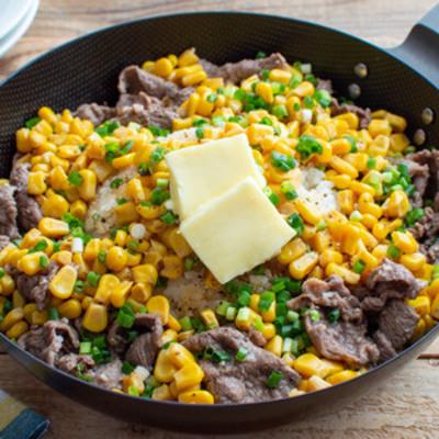 牛肉とコーンのペッパーライス