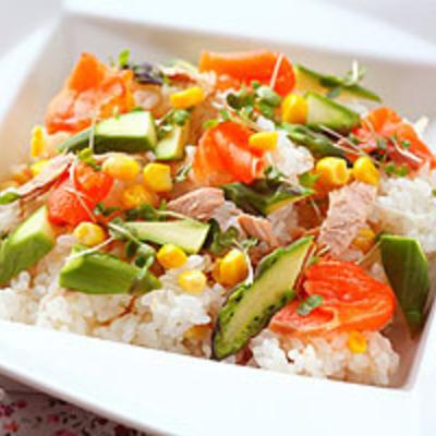ツナとコーンの洋風ちらし寿司
