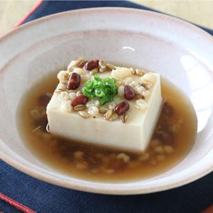 スーパー大麦のあんかけ豆腐