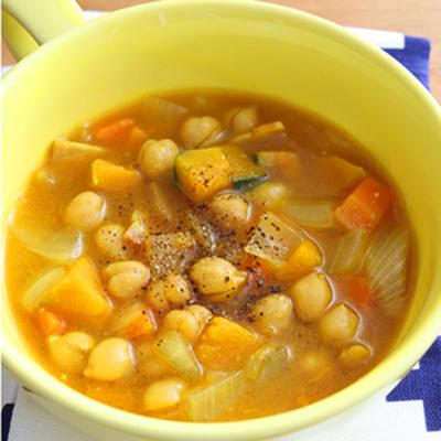 ひよこ豆のカレースープ