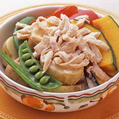 チキンの蒸し野菜