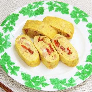 ツナとチーズとトマトのイタリアン卵焼き