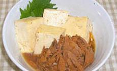 味付フレークと豆腐の簡単煮奴